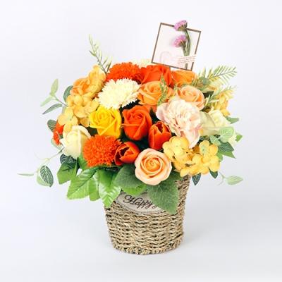 [비누꽃] 오렌지환타(택배상품 / 배송은 3~4일 소요됩니다 (주말,공휴일 제외))