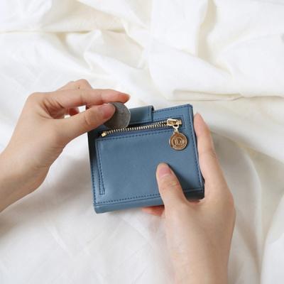 (탄생석지갑) Fiore Half Wallet - blue