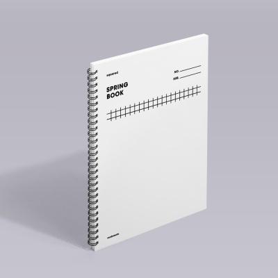 [모트모트] 스프링북 - 화이트 (스퀘어드) 1EA