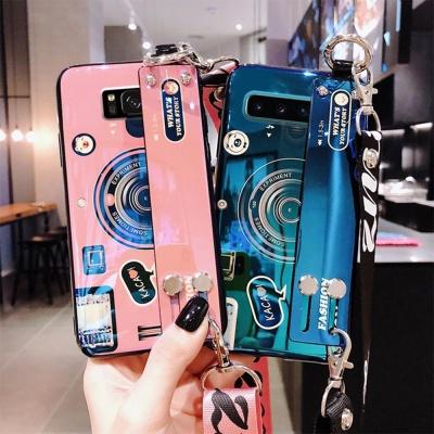 갤럭시S9/S9플러스/카메라 스트랩 유광 실리콘 케이스
