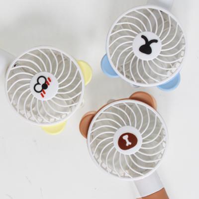 귀쫑긋 곰돌이 대용량 충전 핸디 선풍기-이모티콘 7종
