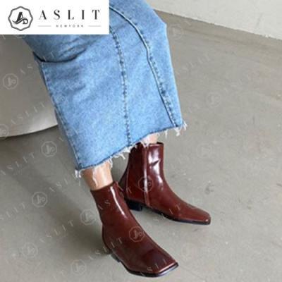 [애슬릿]여성 데일리 스퀘어 앵클 부츠 3.5cm