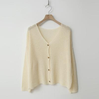 Simple Boucle Cardigan