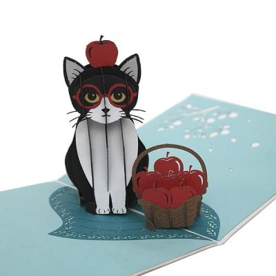 팝업카드 검은 고양이