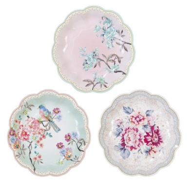 [TT] 티파티 꽃무늬 접시세트 - 작은새 12개