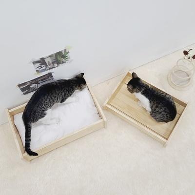 반려동물 고양이침대 원목 하우스 대형
