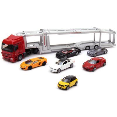 벤츠 차량운송차와 스포츠카세트