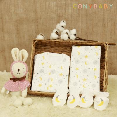 [CONY]신생아선물6종세트(달과별+토끼애착인형)