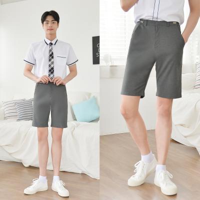 [빅사이즈]허리조절 진그레이 교복 반바지(남자) ~6XL
