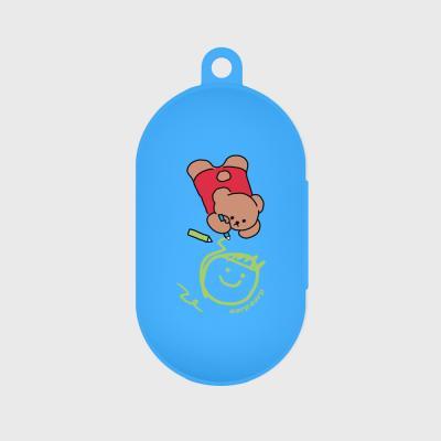 Doodle bear-blue(buds jelly case)