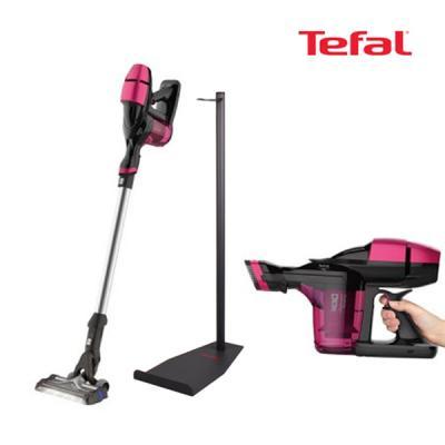 테팔 에어포스360 에센셜무선청소기 핑크 거치대포함