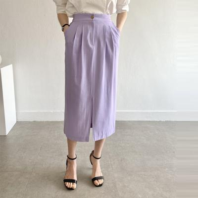 Betty Pintuck Long Skirt