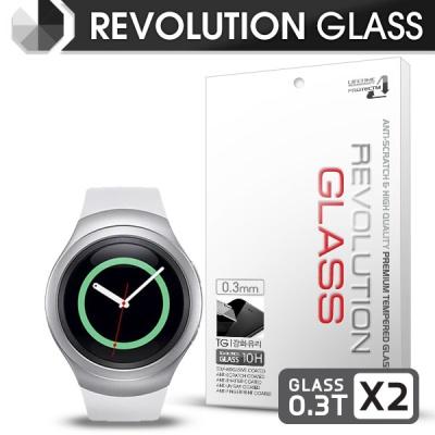 [프로텍트엠] 레볼루션글라스 0.3T 강화유리/방탄액정보호필름 2장 갤럭시기어S2