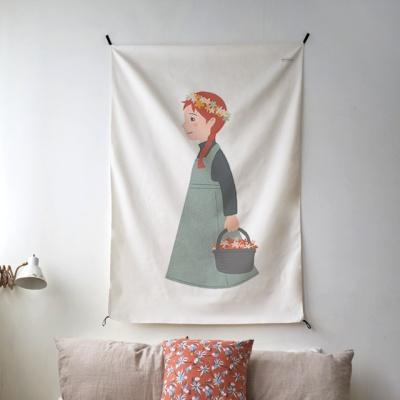 앤 일러스트 패브릭 포스터 / 가리개 커튼