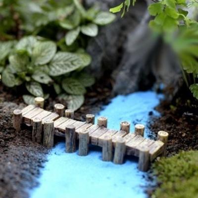 화분 데코레이션용 핀 데코 픽 (나무다리)