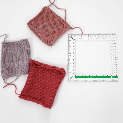 크로바 사각 게이지자 - 스웨터 뜨기 사방 사이즈