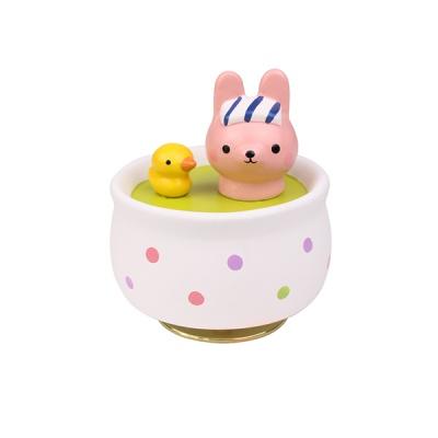 도자기 오르골 목욕하는 토끼