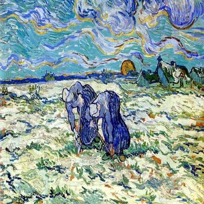 [DIY명화]P4-2008 고흐의 눈덮인밭을파는두여인