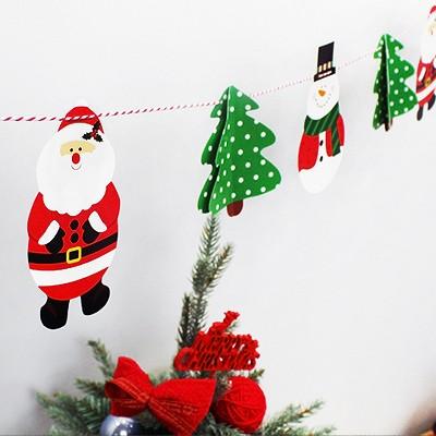 크리스마스 입체 가랜드