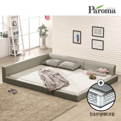 파로마 플러스 패밀리침대 SS+SS 참숯 본넬메트리스