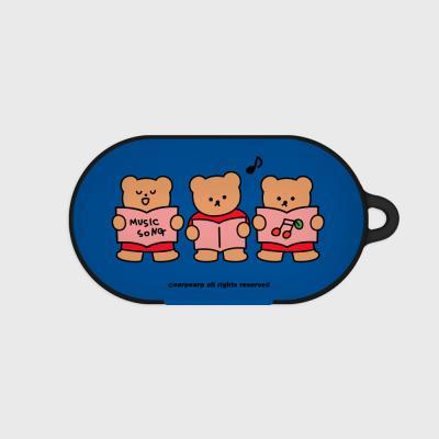 Music song bear-blue(Buds hard case)