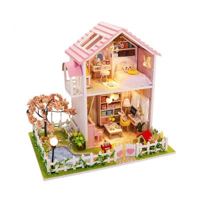 DIY 미니어처 풀하우스 - 핑크 벚꽃 하우스 NEW
