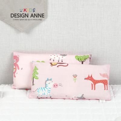 [디자인엔] 순면 애니멀즈 키즈메모리폼베개-핑크