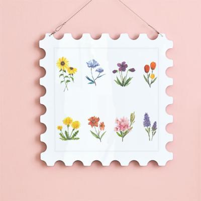 np506-행잉액자_다양한꽃그림(우표중형)