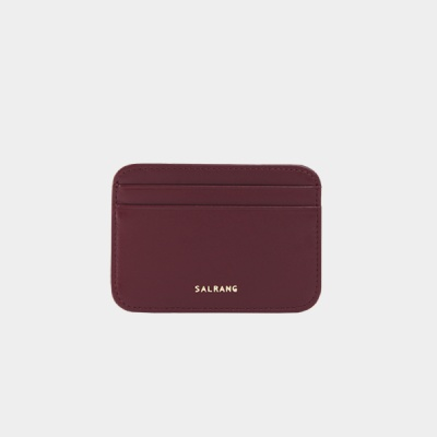 Dijon 101R mini Card Wallet burgundy 디종 미니 카드 월렛 버건디