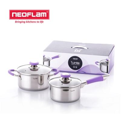 네오플램 트윙클 스텐냄비 2종세트 (16편수+18양수)
