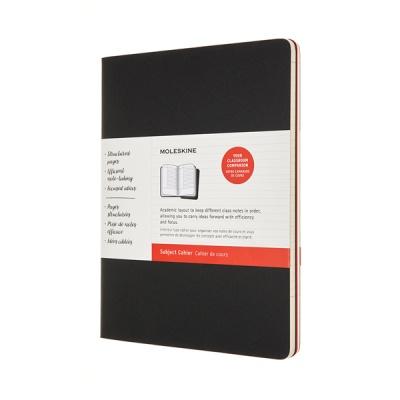 몰스킨 까이에 서브젝트 저널/블랙&크랜베리 레드 XL