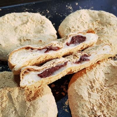 아침대용 인절미 팥빵 소부당 전통 팥앙금 인절미 빵
