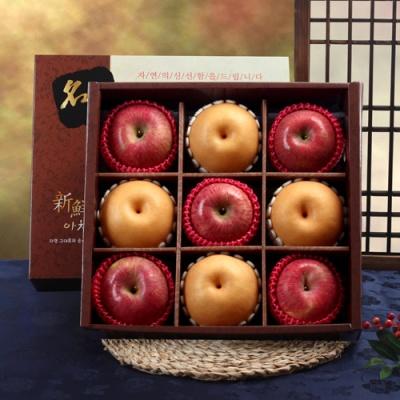 [GIFT ONE] 명품사각 실속 사과,배 선물세트/3.7kg