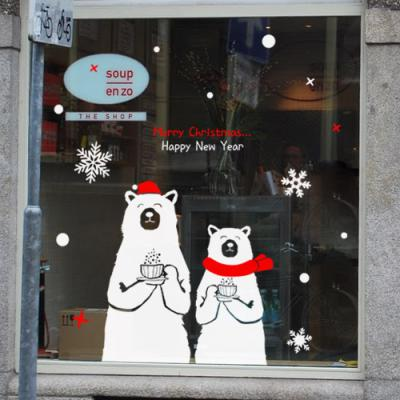 th054-크리스마스커피와곰돌이_그래픽스티커