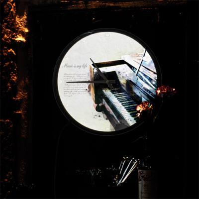 nf136-LED시계액자35R_음악은나의삶