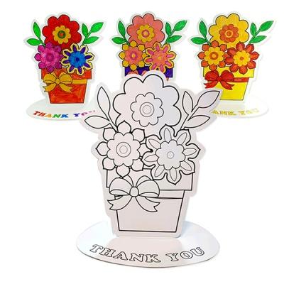 [아티바바] 꽃 칼라링 입체보드/색칠 공부 칼라링북