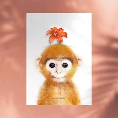 플라워포켓 원숭이 + 행잉프레임 세트