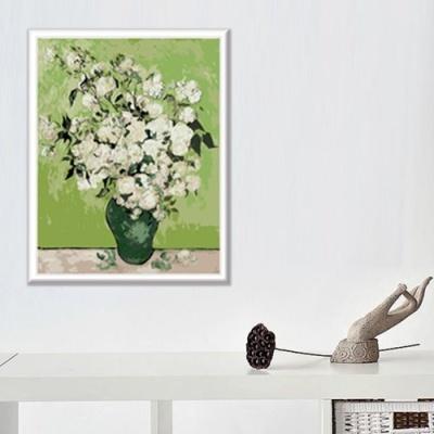DIY 명화그리기 [ 고흐 하얀 장미가 든 꽃병 ] - 40cm*50cm