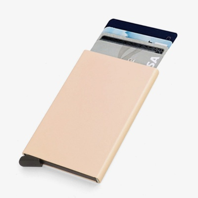 RFID차단 팝업 슬라이드 카드지갑(골드)