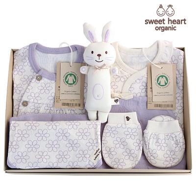 [출산선물 7종세트]오가닉 프리미엄 라인꽃 신생아 선물세트