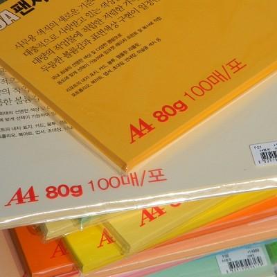 [두성종이] A4-80g-100매의 OA용지-OA 팬시페이퍼-100점보