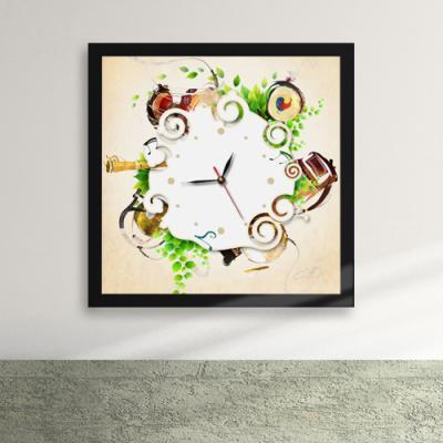 iw058-우리전통의악기액자벽시계_디자인액자시계