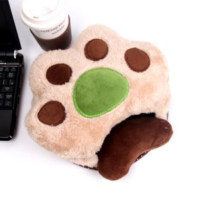 아기곰 손바닥 USB 온열 마우스 패드-다크브라운
