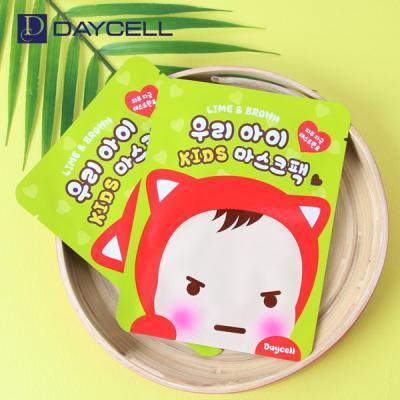 [데이셀] 라임&브라운 어린이 마스크팩 15g