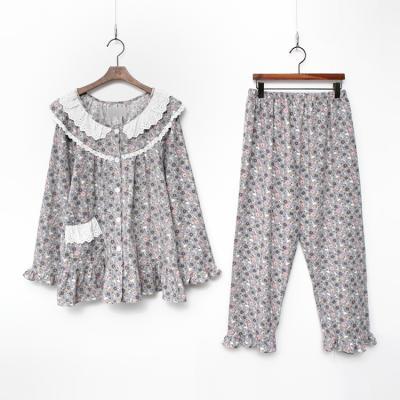 Gimo Flower Frill Pajama Set