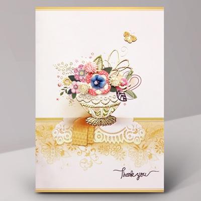 카드/축하카드/감사카드/연하장 엔틱플라워 FT215-3