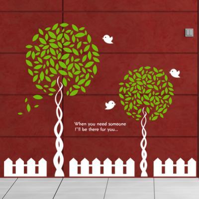 ij293-공원앞나무들과아기새들_그래픽스티커