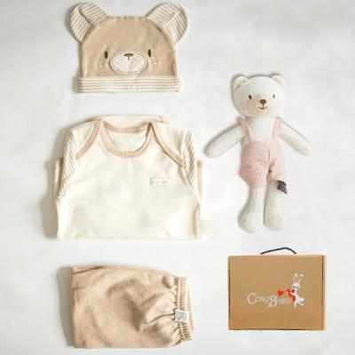 [CONY]오가닉탄생백일선물4종세트(곰돌이3종+꼬마곰인형)