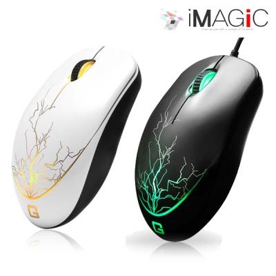 아이매직 게이밍 마우스 GMOUSE IGM1 라이트닝 (AVAGO 3050 센서 / 옴론스위치 / 1000Hz 폴링레이트 / 5가지 LED / UV코팅)