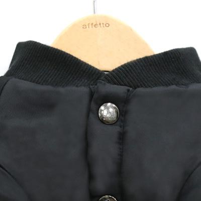 아페토의류_(100% 천연 양모) 시크 블랙 항공 점퍼 [JP16]